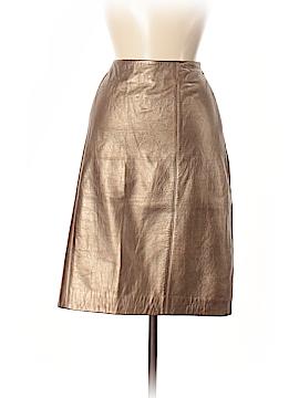 Linda Allard Ellen Tracy Leather Skirt Size M