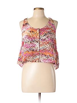 Material Girl Sleeveless Button-Down Shirt Size L