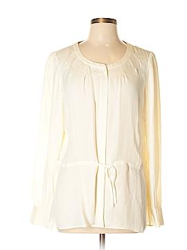 Alfani Long Sleeve Silk Top Size 14
