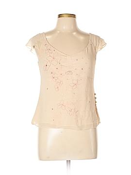 City DKNY Short Sleeve Silk Top Size 10
