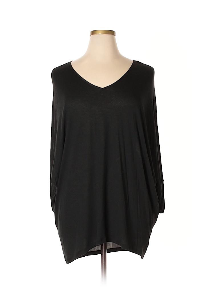 New York & Company Women 3/4 Sleeve Top Size XL