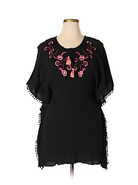 Francesca's Short Sleeve Blouse Size L