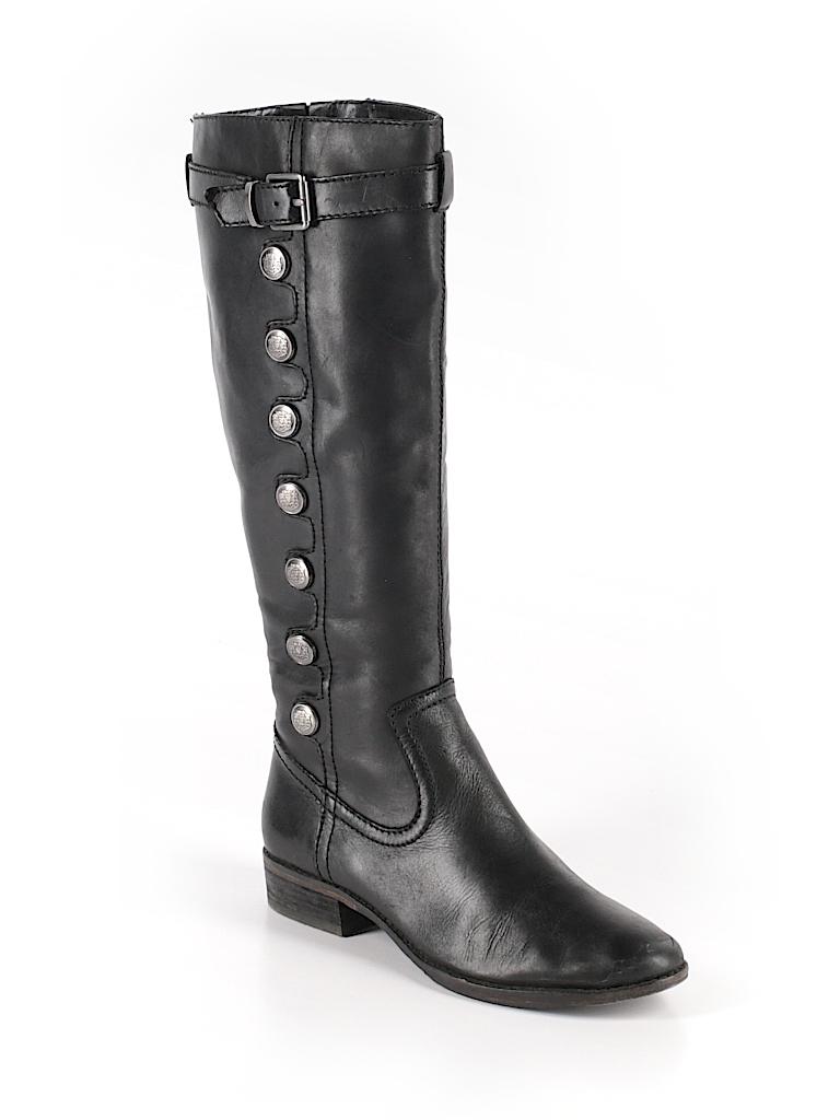 bacf93afe369b Arturo Chiang Solid Black Boots Size 7 1 2 - 74% off