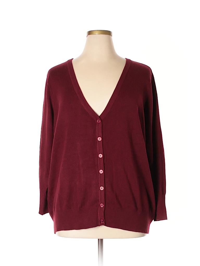 Fervour Women Cardigan Size 3X (Plus)