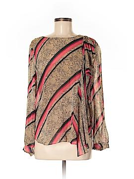DKNY Long Sleeve Silk Top Size M
