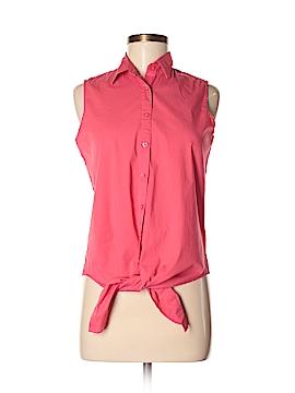 Jennifer & Grace Sleeveless Button-Down Shirt Size S