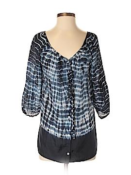 Velvet 3/4 Sleeve Silk Top Size P