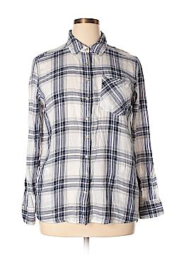 Girl Krazy Long Sleeve Button-Down Shirt Size XL