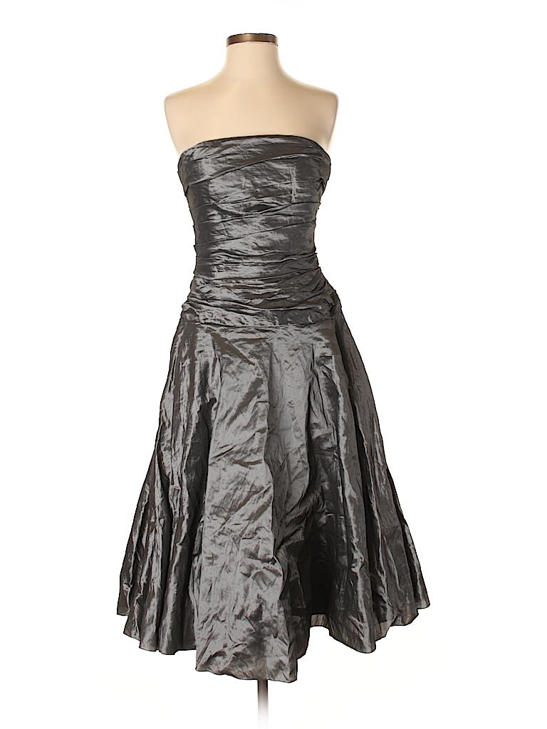 Ralph Lauren Graphic Gray Cocktail Dress Size 6 - 83% off | thredUP