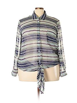 Daniel Rainn Long Sleeve Blouse Size 2X (Plus)