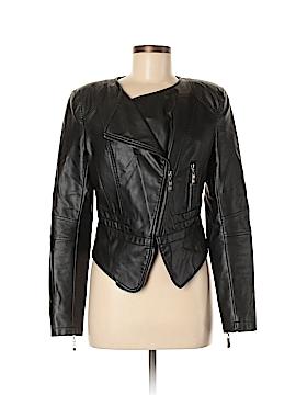 Aqua Faux Leather Jacket Size M
