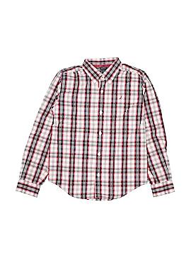 Nautica Long Sleeve Button-Down Shirt Size 8 - 10