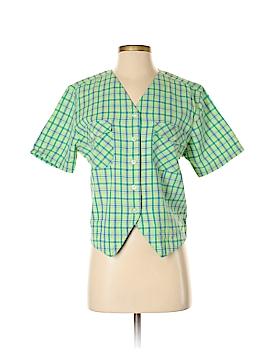 Erika & Co. Short Sleeve Button-Down Shirt Size M