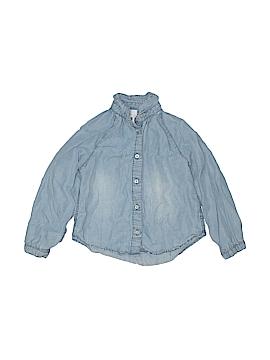 Denim Co Long Sleeve Button-Down Shirt Size 3 mo