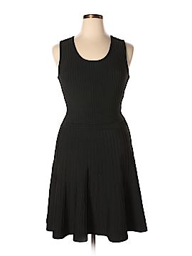 Pink Tartan Casual Dress Size L