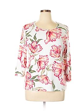 Karen Scott 3/4 Sleeve T-Shirt Size XL
