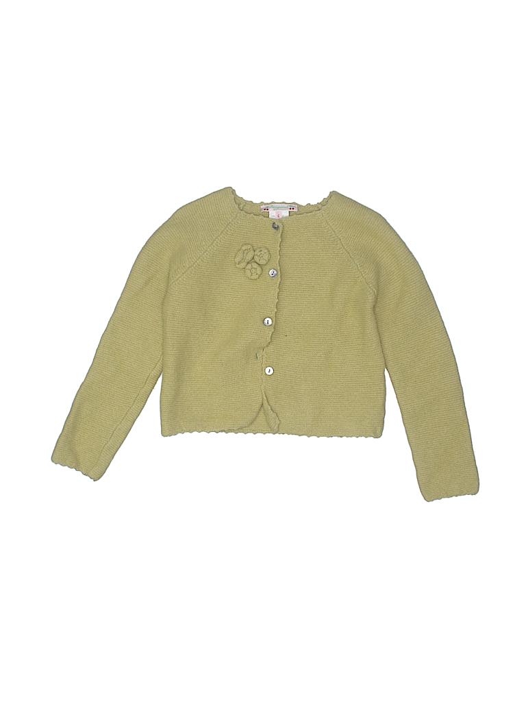 e88f2e0b069 Bonpoint 100% Lana Wool Solid Light Green Cardigan Size 6 - 83% off ...