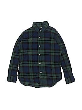 Gap Long Sleeve Button-Down Shirt Size M (Kids)