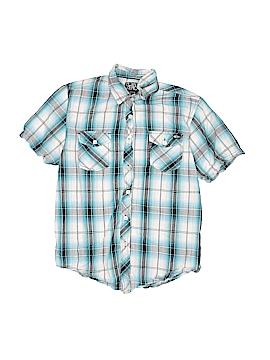 Point Zero Short Sleeve Button-Down Shirt Size L (Kids)