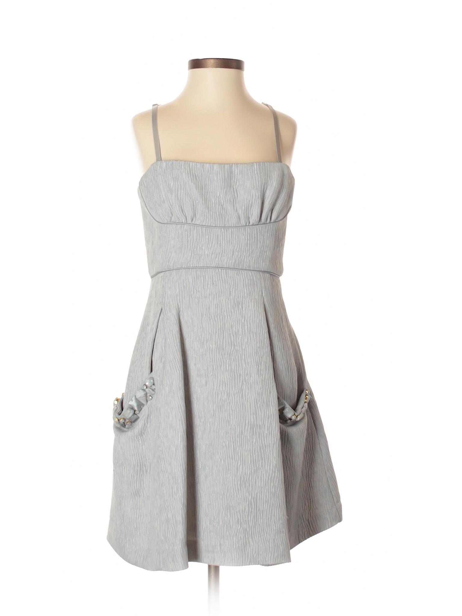BCBGMAXAZRIA Solid Gray Cocktail Dress Size 2 - 75% off | thredUP