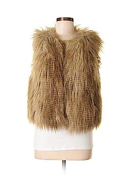 Moda International Faux Fur Vest Size M