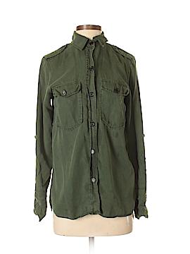 Zara Basic Long Sleeve Button-Down Shirt Size 5