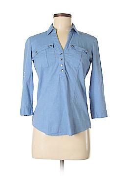7th Avenue Design Studio New York & Company 3/4 Sleeve Button-Down Shirt Size XS