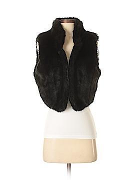 Daisy Fuentes Faux Fur Vest Size L