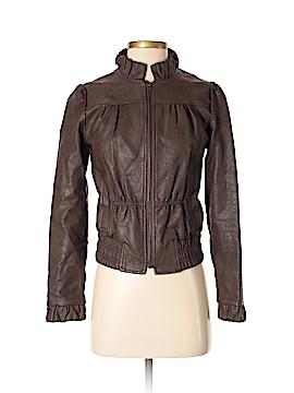 Gracia Fashion Faux Leather Jacket Size S