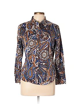 Jones New York Long Sleeve Button-Down Shirt Size L (Petite)