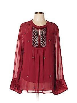 Velvet Long Sleeve Blouse Size L