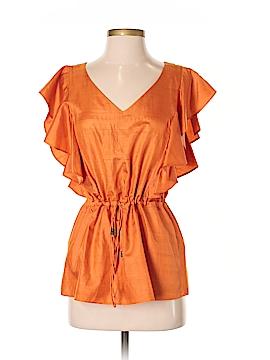 Lauren by Ralph Lauren Short Sleeve Silk Top Size XS