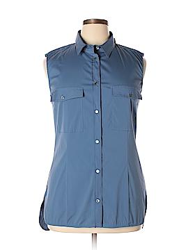 Piazza Sempione Sleeveless Button-Down Shirt Size 48 (IT)