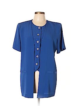 Leslie Fay Short Sleeve Blouse Size 10
