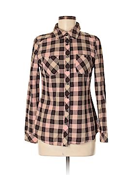 Cache Cache Long Sleeve Button-Down Shirt Size M