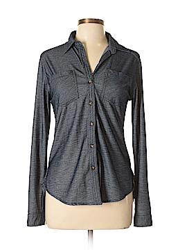 Passport Long Sleeve Button-Down Shirt Size M