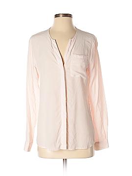 Ecru Long Sleeve Silk Top Size S