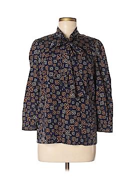 DKNY Long Sleeve Silk Top Size 6