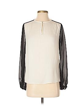 Diane von Furstenberg Long Sleeve Silk Top Size 0