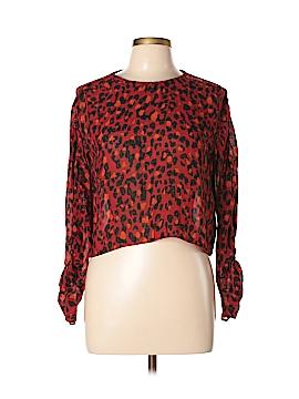 Zara TRF Long Sleeve Blouse Size L