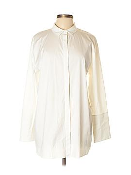 Lafayette 148 New York Long Sleeve Button-Down Shirt Size L