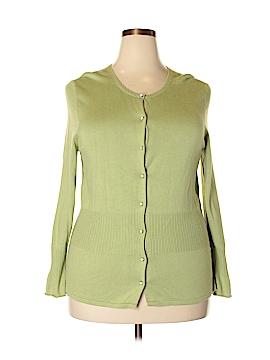 Sigrid Olsen Silk Cardigan Size 1X (Plus)