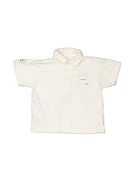 Mini Man Short Sleeve Button-Down Shirt Size 12 mo