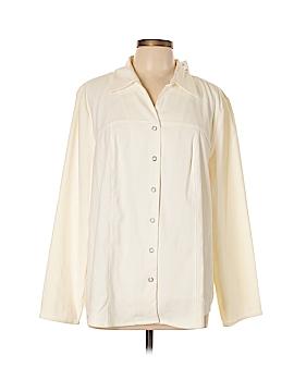 Fashion Bug Long Sleeve Button-Down Shirt Size 22 - 24 (Plus)