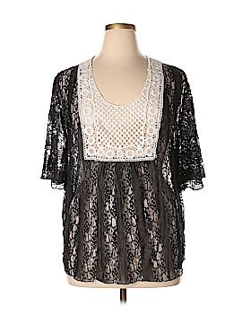 Julie's Closet Short Sleeve Blouse Size 2X (Plus)