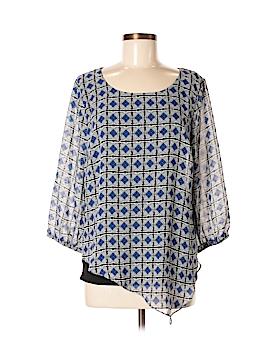 AB Studio 3/4 Sleeve Blouse Size M