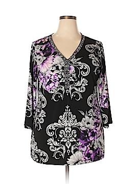 JM Collection 3/4 Sleeve Top Size 2X (Plus)