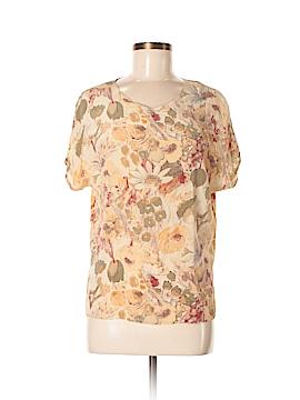 Petite Sophisticate Short Sleeve Silk Top Size M