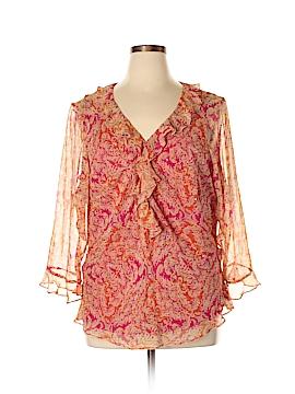 ECI 3/4 Sleeve Silk Top Size 3X (Plus)