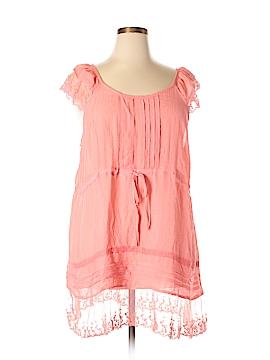 Forgotten Grace Short Sleeve Button-Down Shirt Size 2X (Plus)